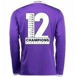 Camiseta Real Madrid Segunda Champions 12 manga larga